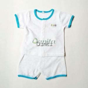 Baju Baby White Blue
