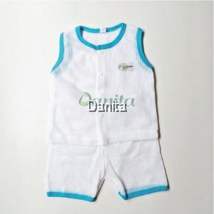 Baju Baby Tanpa Lengan Blue White
