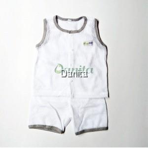 Baby Baby Tanpa Lengan White Grey