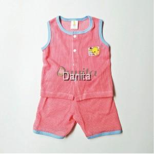 Baju Baby Tanpa Lengan Red