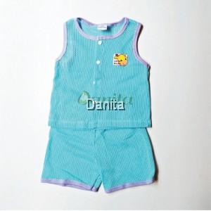 Baju Baby Tanpa Lengan Blue